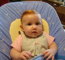 Ella at Grandma & Grandpa's house with A