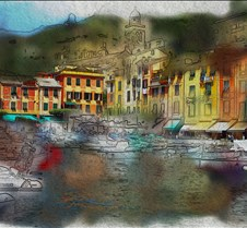 portofino watercolor