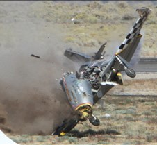 Thunder Mustang #75 Air Race Crash 460b