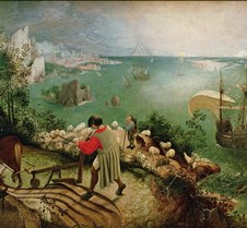 079Landscape w Fall of Icarus-Pieter Bru