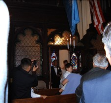 Alice and her father entering church