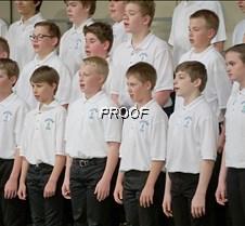 Seventh grade choir boys