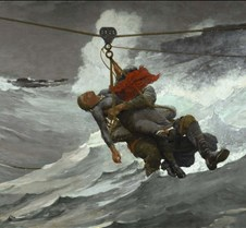 The Life Line - Winslow Homer - 1884 - P
