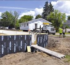 Habitat-house arrives at the lot