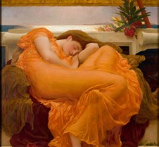 Flaming June-Frederic Leighton-1895-Muse