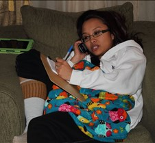 Vanessa answering phones