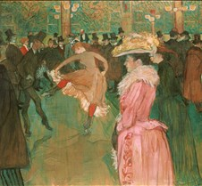 Dance at Moulin Rouge-Henri de Toulouse-