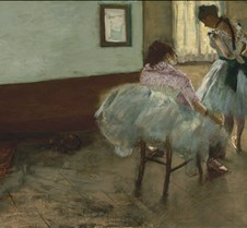 The Dance Lesson - Edgar Degas - 1879 -