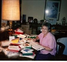 1994 Mom_writing_Christmas_Cards_1994