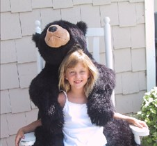 Maddie with bear