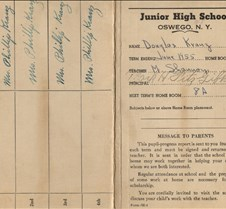 report card kingsfor park 1955 outside