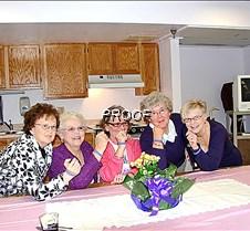 Womens Federated members displaying purp