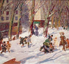 Winter High Bridge Park – George Luks –