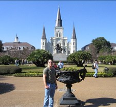 Me standing at Jackson Square