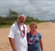 Larry and Jane at Lydgate Beach park