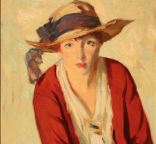 The Beach Hat-Robert Henri-1914-Detroit