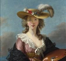 Self-portrait in a Straw Hat - Elisabeth