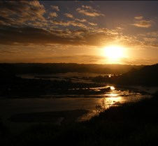 veiw of pataua at sunset
