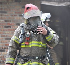 Fire-firefighter emerges