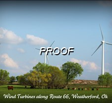 ( 13 ) Wind Turbines near Weatherford Ap