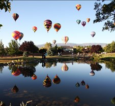 Great Reno Balloon Race Over Pond