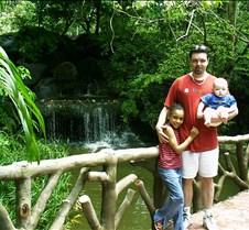 Dad and Kids at Tiger Zoo