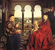 Virgin of Chancellor Rolin-1435-Jan van
