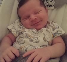 Danny smiling in sleep June 2 2017