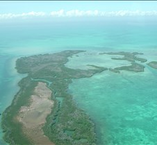 a Caye from the air