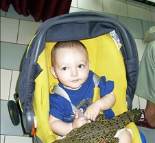 Kade with croc