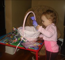 Grace just finish opening up her basket