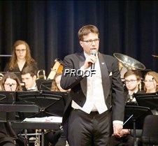 Gustavus band conductor