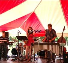 Music under tent