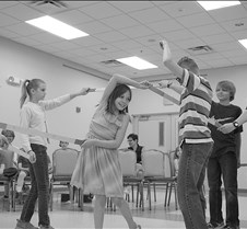 Sixth grade grad stick dance