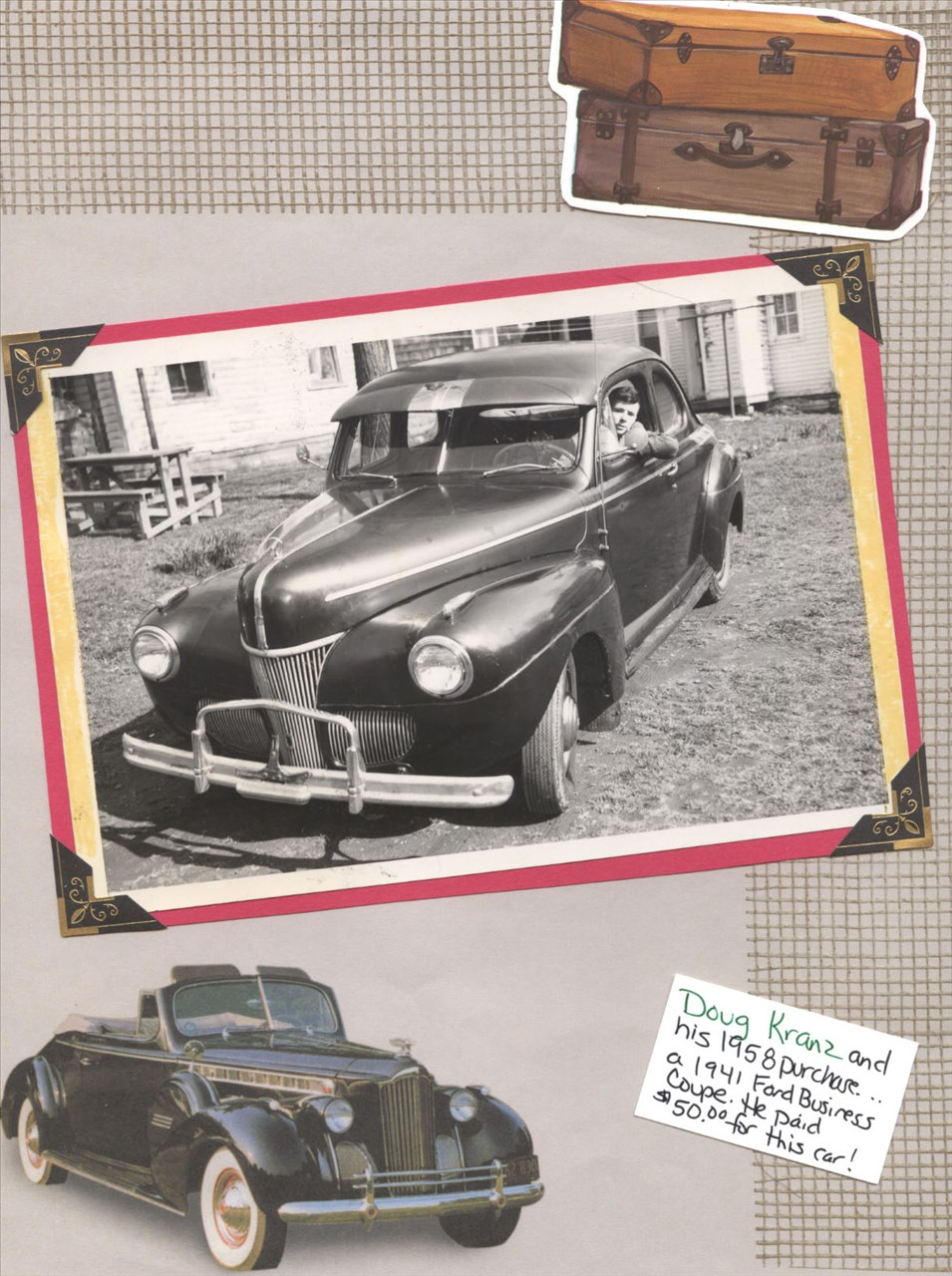 Dotphoto Album Cindykranzjones Dads Scrapbook 1941 Ford Business Coupe